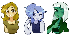 [C] 3 Busts style 1 for The Festive Gems by Kimo-Chi