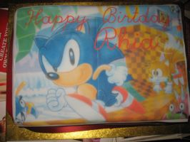 Sonic Birthday Cake by sonicrules100