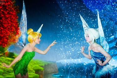 Tinker Bell and  Periwinkle by Perevinkl
