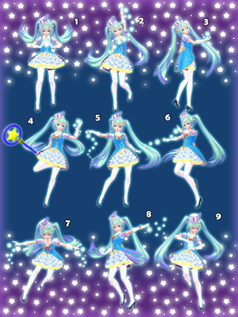 [MMD] Magical Pose Pack - DL by Snorlaxin