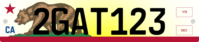 52x11cm Euro-style License Plate - California by DouJinFlip