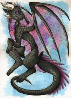 Gala the Galactic-Winged Dragoness by DeathTheDragon