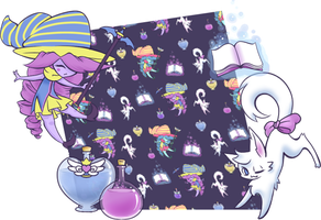 Magical Girl Spoonflower Fabric by CloverWing