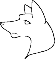MS Paint Dog Lineart3 by Kayori-Ayane