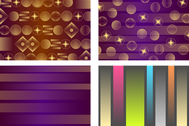 Simple Backgrounds (1 Set of 4) by Viscious-Speed