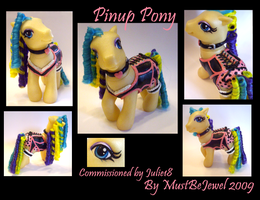 Commission: Pinup Pony custom by MustBeJewel