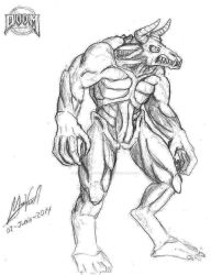 DOOM Hell Knight by TheMVAproductions