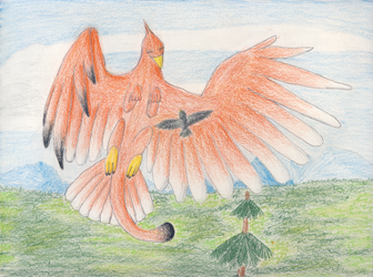 Griffen with starling by hessium