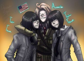 America and The Twins Towers by YourDigitalAquarium