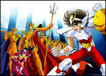Seiya Vs Marinas by Trident-Poseidon