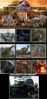 My Top 10 Jurassic Park Dinosaurs by WillDynamo55