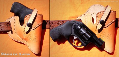 Forward Cant holster for Ruger 380 hammerless by rosewolfartisans
