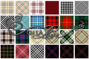 Tartan and houndstooth by BerryKissed
