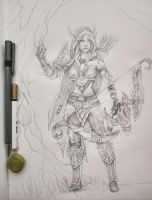 Alleria Windrunner sketch by skadi-s