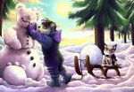 'Winter Wonderland' Commission for Ghostbear by Kampfkewob