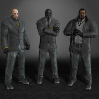 Batman Arkham Origins Black Mask Thugs by ArmachamCorp