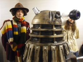 Florida Supercon '13: The 4th Doctor and a Dalek by NaturesRose