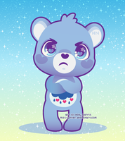 Grumpy bear by Miss-Glitter
