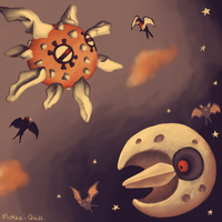 Pokemon Advent Challenge Day 6-Day and Night by MokkaQuill