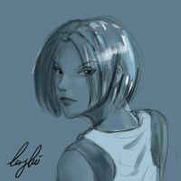 Character sketch - Lenglui for Ingress GO by real-hybridjunkie