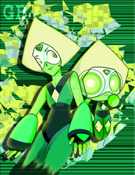 Peridot and Powerpuff Peridot by RoyaltyRarity