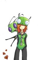 Zylix and Gir Suit Girl lol by archsoul1