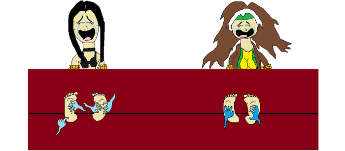 Rogue and X-23 tickled in stocks by Theweepingwraith