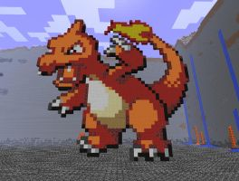 Minecraft Art: Charmeleon