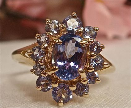 Tanzanite Halo Ring (Angle 2) by SeattleFineJewels