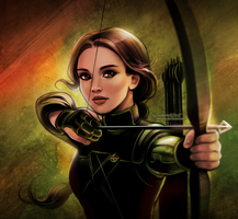 Katniss: Mockingjay by daekazu