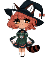 ADOPT [CLOSED] Raccoon Witch! - SET PRICE by Mousehearts