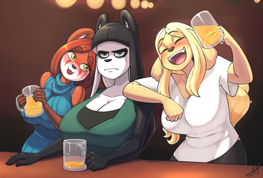 Mothers at the Bar by Skecchiart