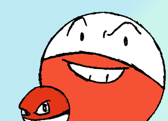 Voltorb and Electrode by KenboCalrissian