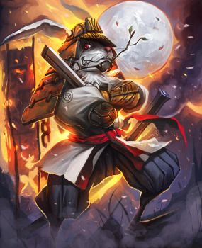 Monsuun Shogun of Windajin by Andres-Blanco