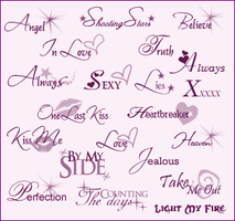 Tiny Text Brushes by pinklilies