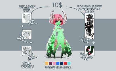Jellyhands Demon - Adoptable Info by Yellow-adoptables