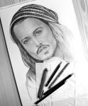 WIP Johnny Depp by nellusatko