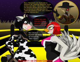 Farmyard Wrestling - Standoff by PlayboyVampire