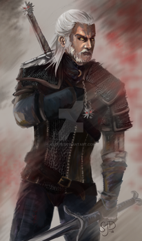 Geralt of Rivia by kisusie