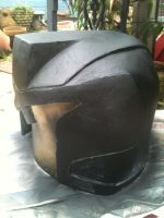 Dredd Helmet, sanded and sprayed by dicewarrior