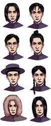 Snape tries out a few hairstyles by Kvasii