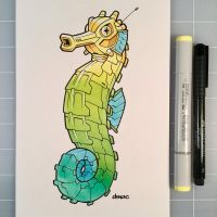 March of Robots Day 20: Seahorse by D-MAC