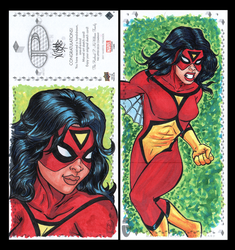 Spiderwoman Marvel premiere sketch card by comicsINC