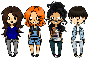 i made chibis of my friends!!!!! by FishOni