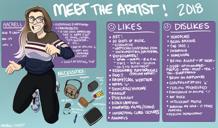 Meet the Artist! aacrell 2018 by aacrell