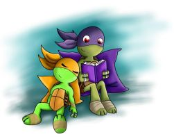 TMNT Mikey and Donnie tots by IceNinjaHard