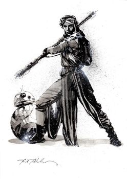 Rey + BB-8 by markmchaley
