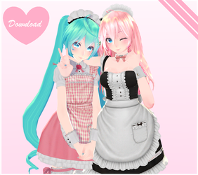 [MMD COLLAB] Tda Maid Luka [DL!] by NekoAkashi-Kun