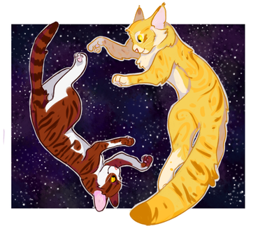 Mothwing and Leafpool by moldypaw