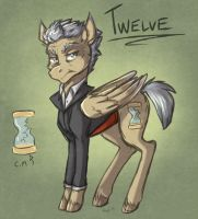 12th Doctor Pony by howlingvoice